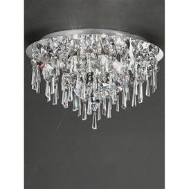 image-C5720 Round 5 Light Crystal Bathroom Flush Ceiling Light