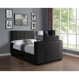 image-Michael PVC Double TV Bed