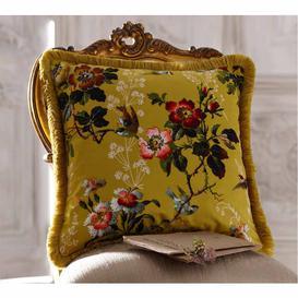 image-Leighton Ochre Velvet Cushion by Oasis Home