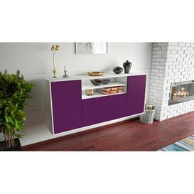 image-Stapleford Sideboard Brayden Studio Colour (Body/Front): White Mat/Purple