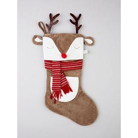 image-Sass & Belle Reindeer With Antlers Christmas Stocking