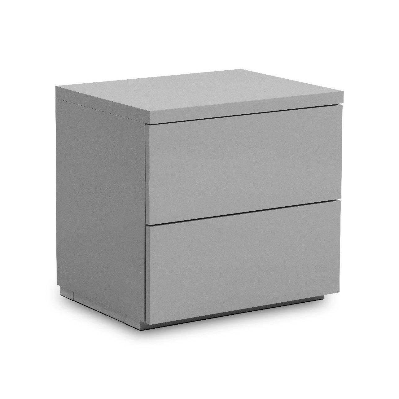 image-Monaco 2 Drawer Grey Bedside