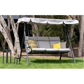 image-Oregon  Garden Swing Bench  Grey