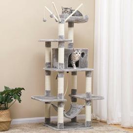 image-Ballina 146cm Scratcher Activity Centres Post with Hammock Cat Tree Archie & Oscar