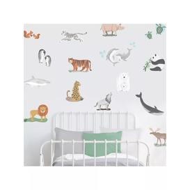 image-little home at John Lewis World Map Wall Stickers, Multi
