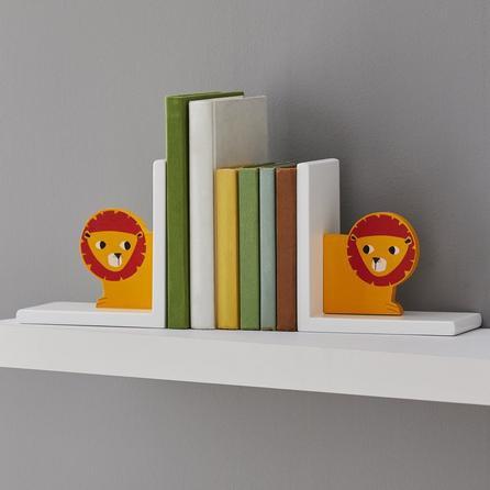 image-Jungle Friends Lion Bookends Orange