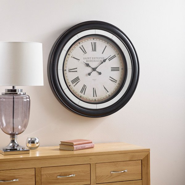 image-Clocks - Saint Estephe Wall Clock - Oak Furnitureland
