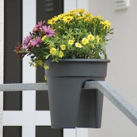 image-3 Piece Plastic Balcony Planter Set KHW Colour: Charcoal