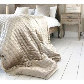 image-Champagne Zari Velvet Bedspread