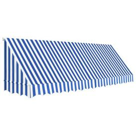 image-W 1.2 x D 4m Door Awning Sol 72 Outdoor Colour: Blue/White