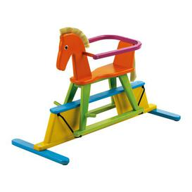 image-Swingly Stern Rocking Horse Geuther Colour: Orange, yellow and green