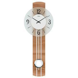 image-Pendulum Clock AMS Uhrenfabrik Colour: Sonoma/Chrome