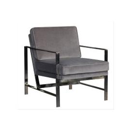 image-Stanton Grey Velvet and Chrome Occasional Chair