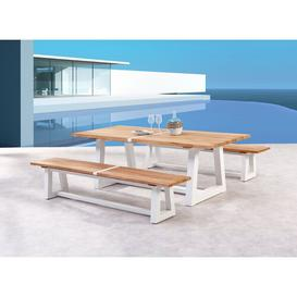 image-Connerton 6 Seater Dining Set Sol 72 Outdoor Frame colour: White