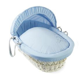 image-Starburst Moses Basket Clair De Lune Colour: Blue, Finish: White
