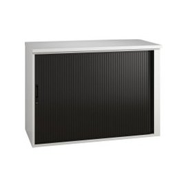 image-Illusion Low Tambour Unit Black Gloss, Black, Free Next Day Delivery