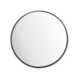 image-Round Black Metal Convex Mirror D94