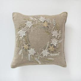 image-Gallery Direct Wreath Cushion Hand Embroidered