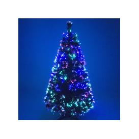 image-Green Fibre Optic Christmas Tree with Multicoloured Fibre Optic Lights - 2ft, 3ft, 4ft, 5ft, 6ft [6ft / 1.8m PRE-ORDER]