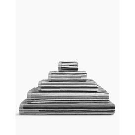 image-M&S Pure Cotton Striped Towel - FACE - Black Mix, Black Mix,Natural Mix,Grey Mix,Chambray Mix,Terracotta Mix
