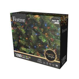 image-1000 LED Multicolour 24.9m Fairy Christmas Tree Outdoor Lights