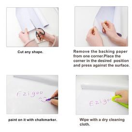 image-Sticker Self Adhesive Wall Mounted Chalkboard Symple Stuff