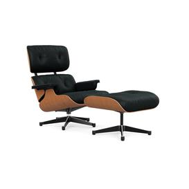 image-Vitra Eames Lounge Chair & Ottoman Classic Dims A. Cherry Polished with