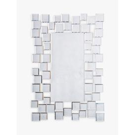 image-Brielle Rectangular Mirror, 89 x 60cm, Silver