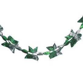 image-Christmas Garland Decoration 8 Foot x 9 Inch Green & Gold