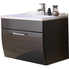 image-70cm Wall Mounted Vanity Unit with Storage Cabinet