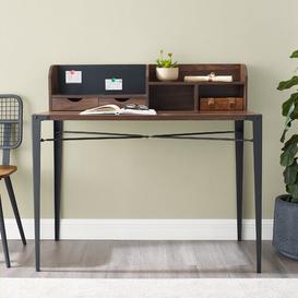 image-Doster Secretary Desk Mercury Row Colour: Dark Walnut
