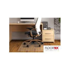 image-Cleartex Advantagemat PVC Square Chair Mat For Hard Floors