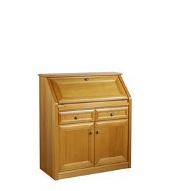 image-Mathew Secretary Desk Marlow Home Co. Colour: Beech Cherry