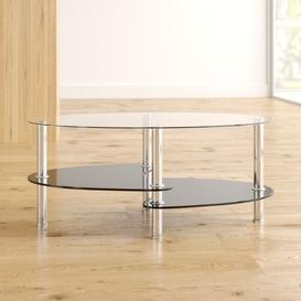 image-Fleetwood Coffee Table with Magazine Rack Home & Haus Finish: Black