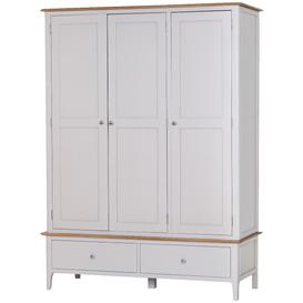 image-Daniella Oak and Grey 3 Door Wardrobe