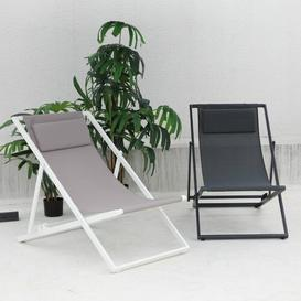 image-Mabon Folding Beach Chair with Cushion Dakota Fields