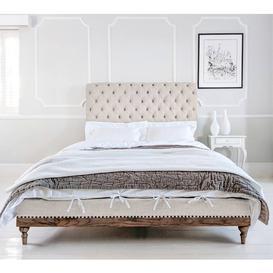 image-Lottie Low Footboard Super King Bed in Fawn Linen