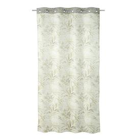image-Splendora Eyelet Semi Sheer Curtain Bay Isle Home Colour: Brown