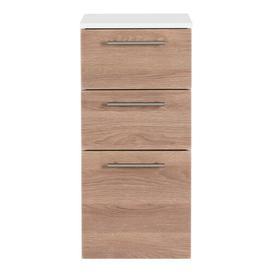 image-Viva Bathroom 35 x 75cm Wall Mounted Cabinet Belfry Bathroom Finish: Light Oak