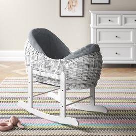 image-Alexandro Moses Basket with Bedding Mack + Milo Colour: White/Light Grey