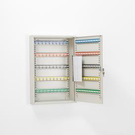 image-Large key cabinet, 100 hooks, 550x380x80 mm