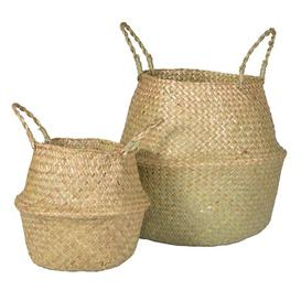 image-Natural Seagrass Belly Basket Large