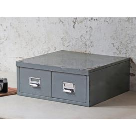 image-Twin-Drawer Vintage Filing Cabinet  Small