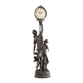 image-Grand-Scale Flora Sculptural Swinging Pendulum Tabletop Clock Design Toscano