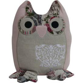 image-Musselman Owl Heart Fabric Weighted Door Stop Mercury Row