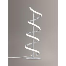 image-John Lewis & Partners Zena LED Twist Table Lamp, Polished Chrome