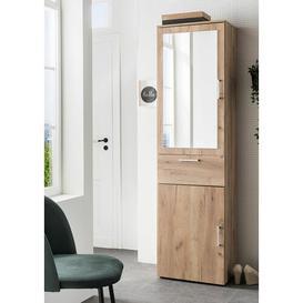 image-Demitri 50cm x 195cm Mirrored Free Standing Cabinet Ebern Designs