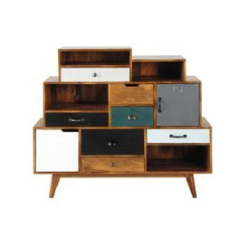 image-Solid mango wood vintage cabinet W 125cm Picadilly