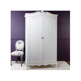 image-Gallery Chic 2 Door Wardrobe in Off White