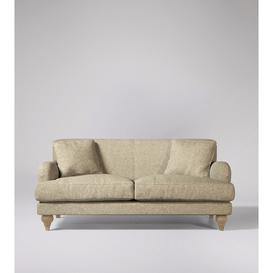 image-Swoon Chorley Two-Seater Sofa in Oatmeal Soft Wool With Short Light Feet